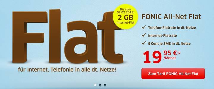 FONIC All-Net Flat mit 2 GB Internet Flat
