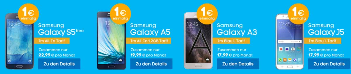 Blau Samsung Bundle